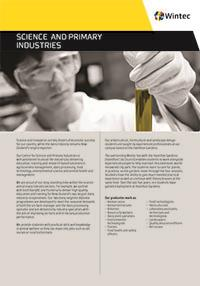 Science and primary industries profile cover