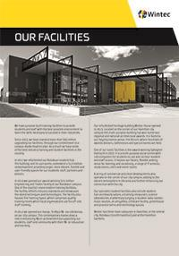 Our facilities profile cover