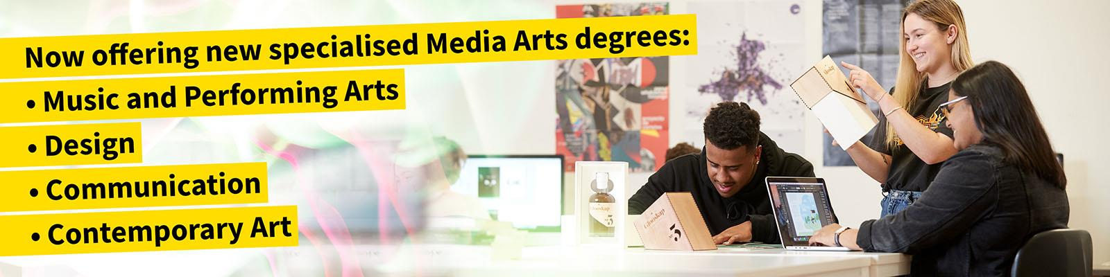 Media arts promotion of new programmes