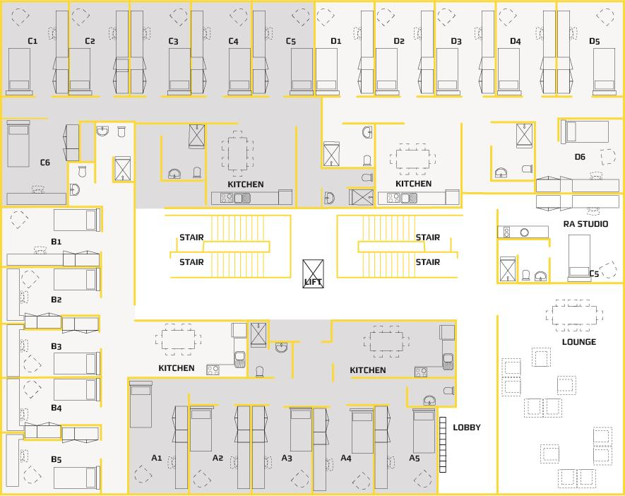 Student Apartment Floor plan