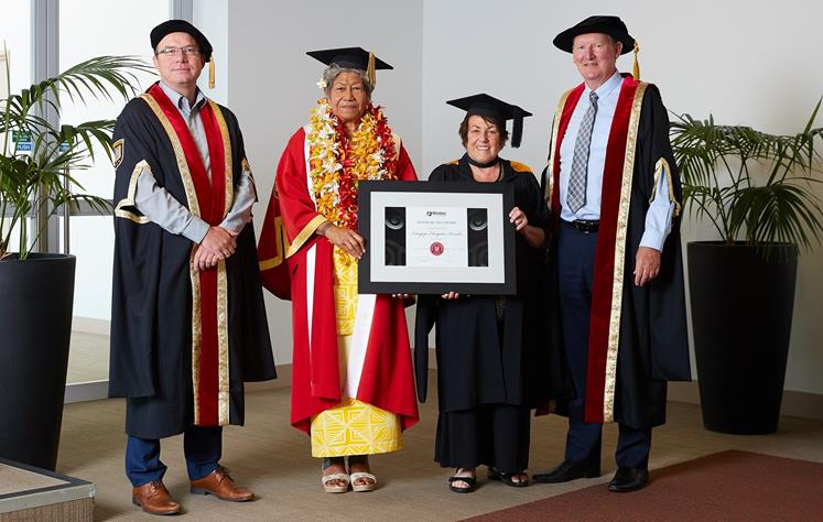 Peta Karalus received an Honorary Fellowship from Wintec