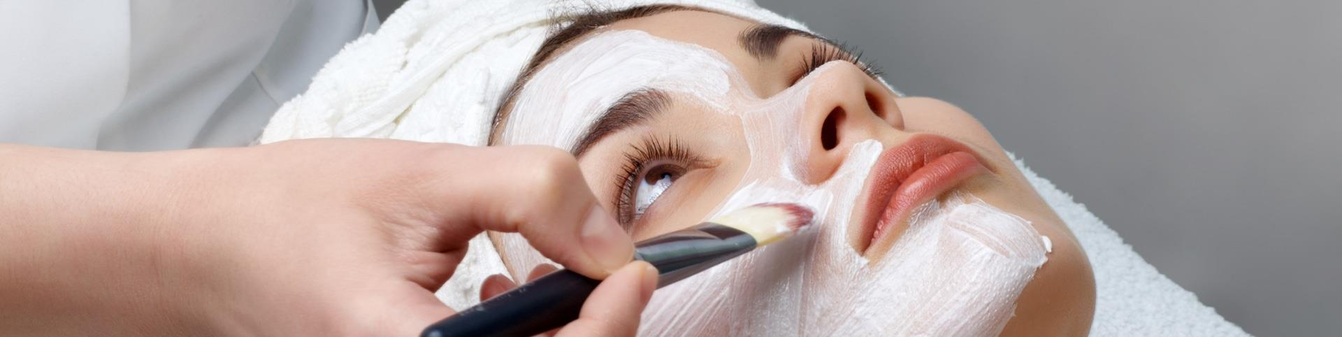Close up on Facial being undertaken by beautician