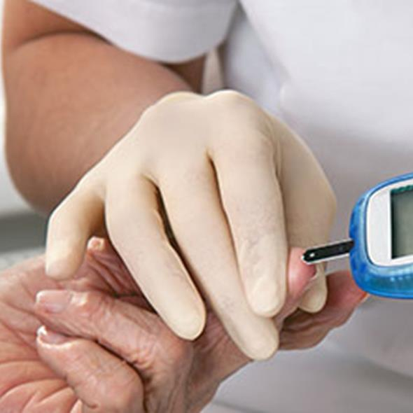 close up of diabetes test being undertaken