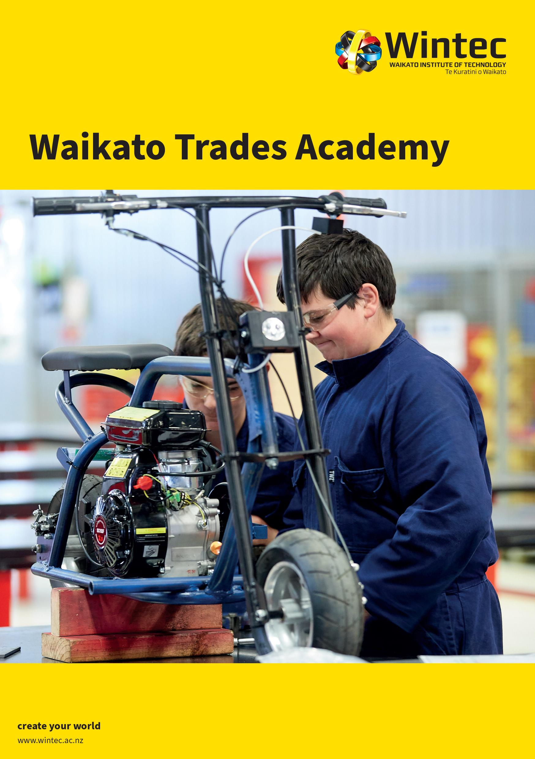 Waikato Trades Academy booklet programme guide image
