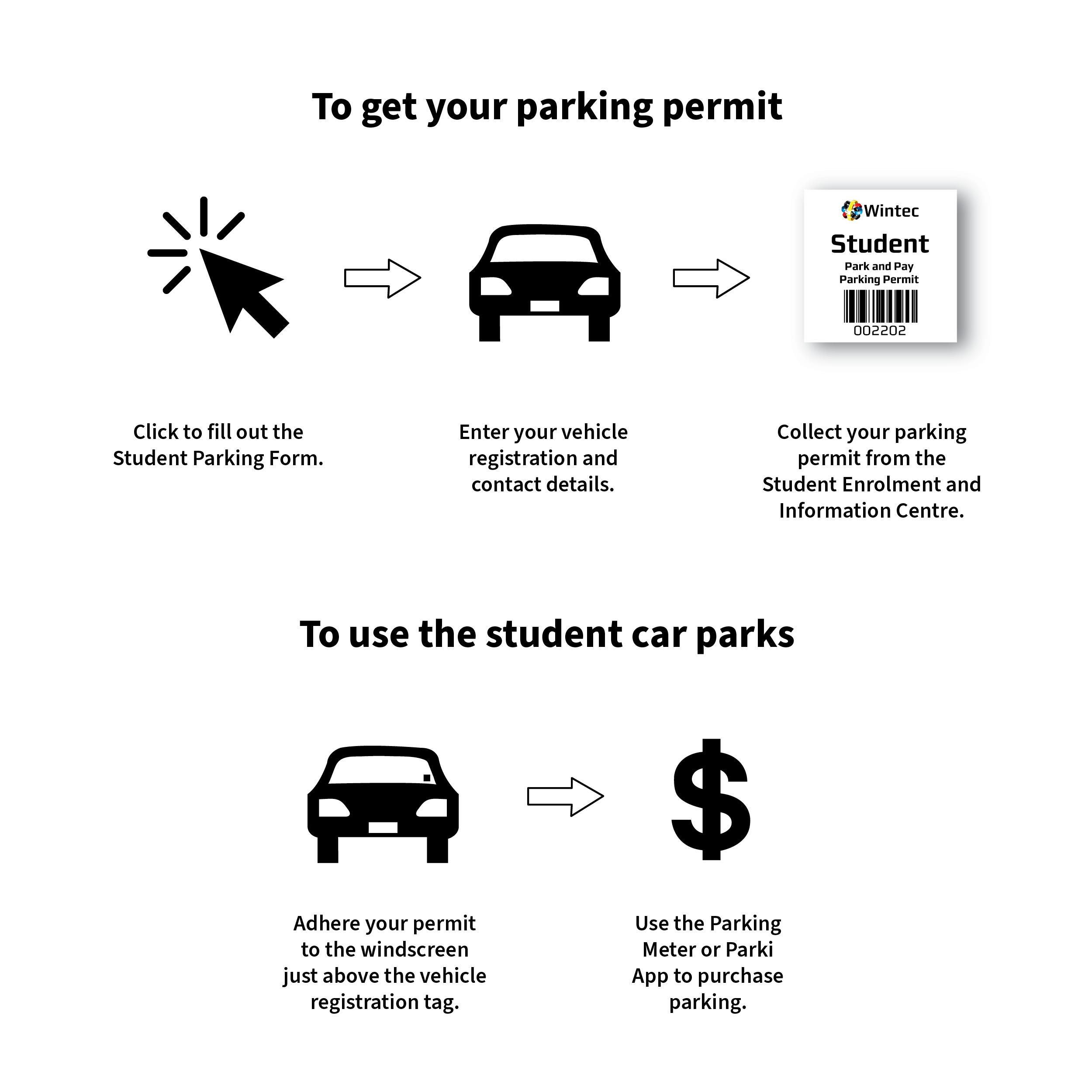 How to get and use your student parking permit