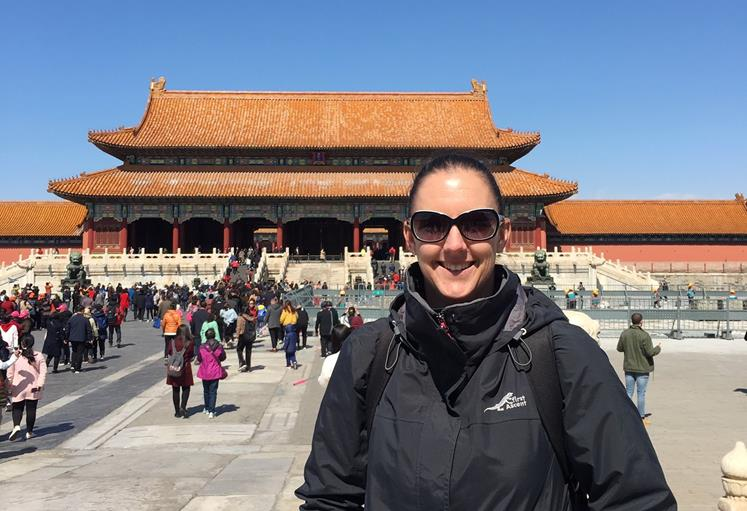 Amy Pearce in Beijing to progress the partnership with China's leading sports university
