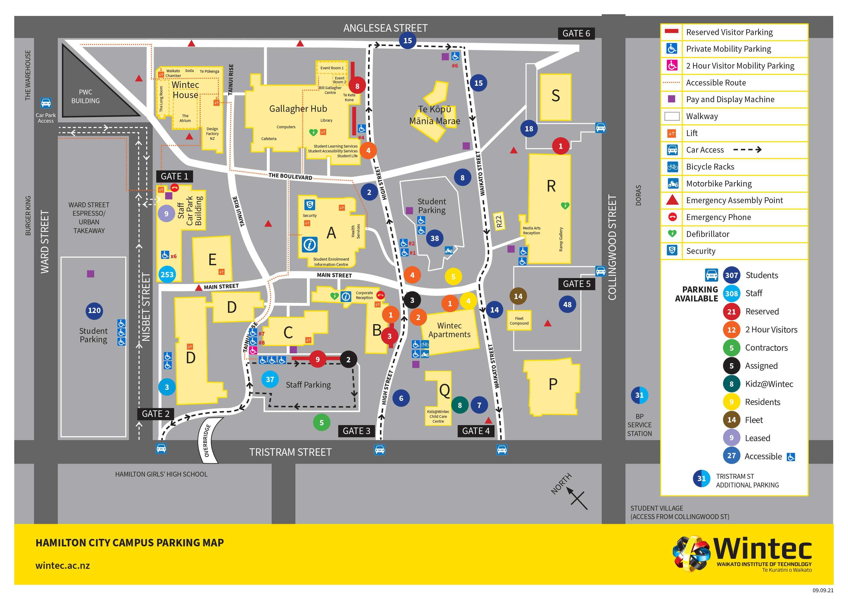 City campus parking map