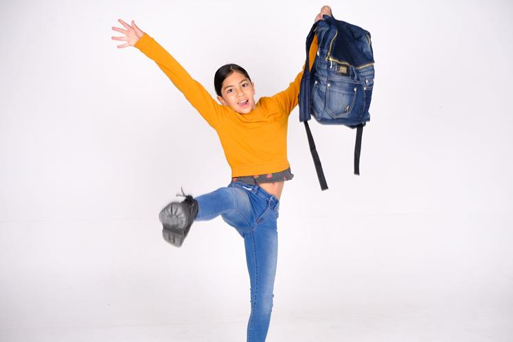 Wintec student Eunji Min is upcycling jeans into backpacks that connect the owners.