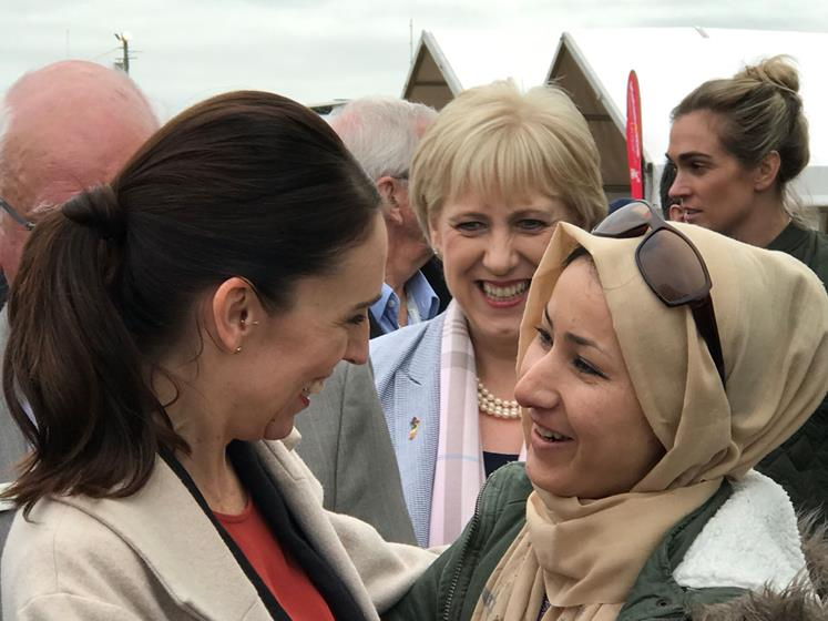 Wintec student Basira got to thank the Prime Minister at Fieldays for her kindness to Muslims