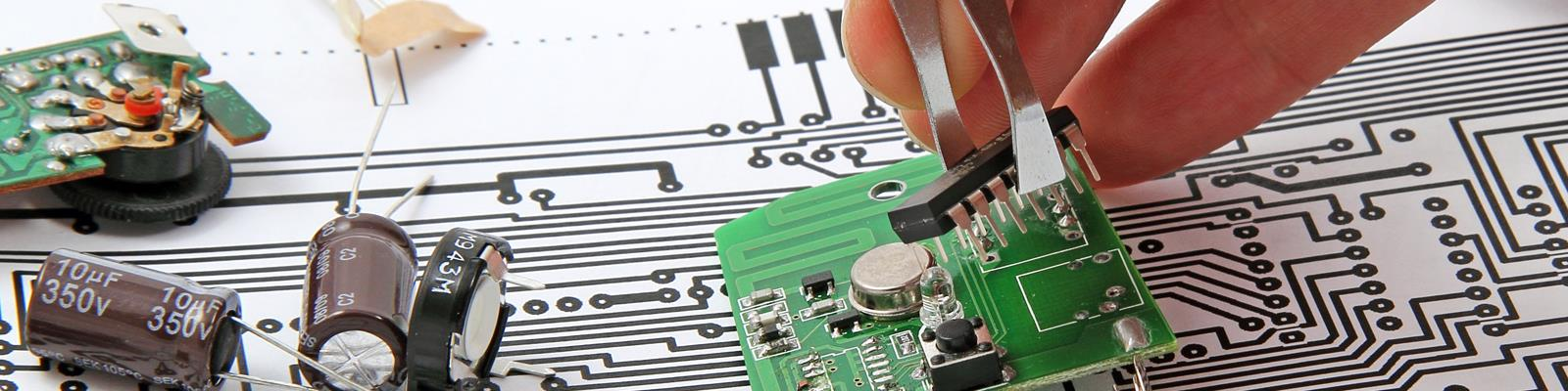 close up of electronics parts