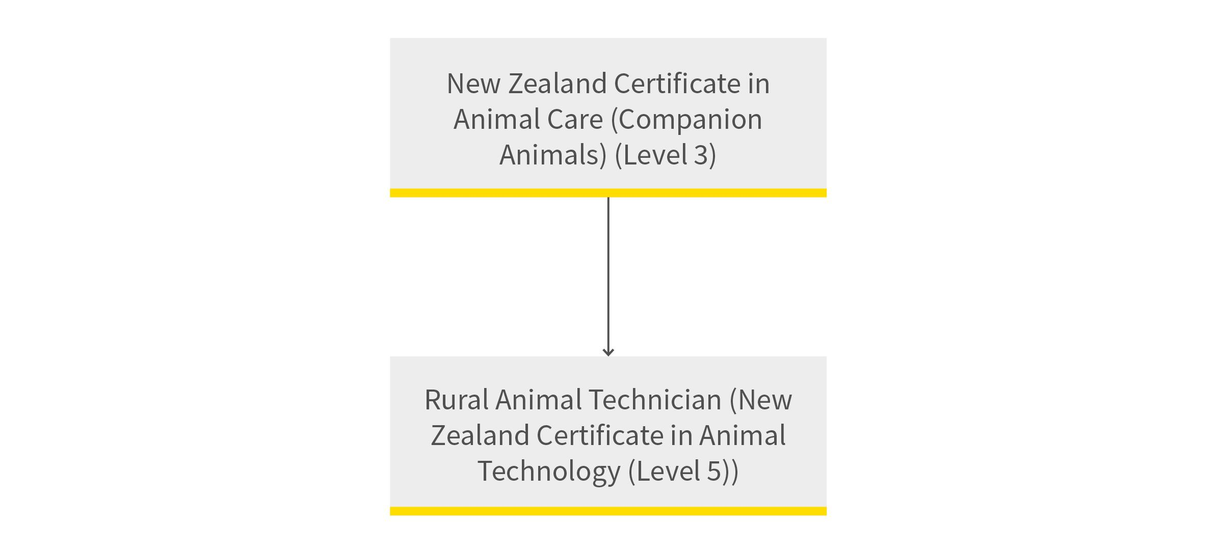 Animal Care and Rural Technology pathway diagram