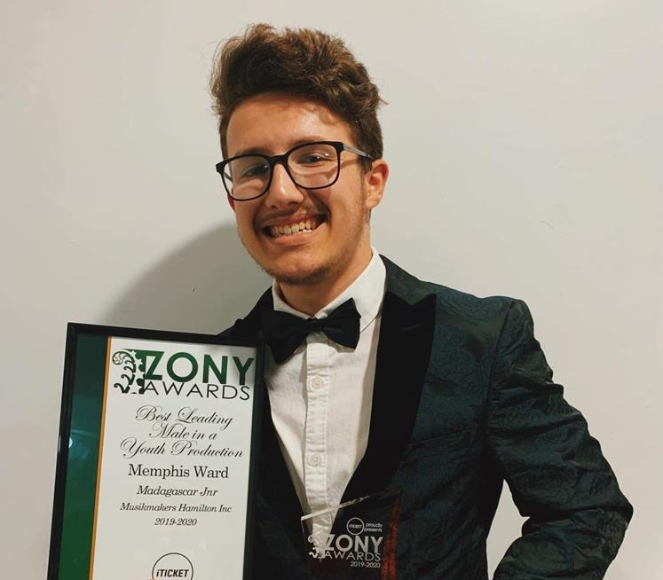 Wintec student Memphis Ward won best leading male at the Zonys