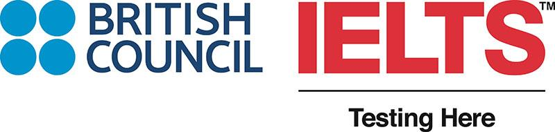 British Council IELTS Testing Here logo