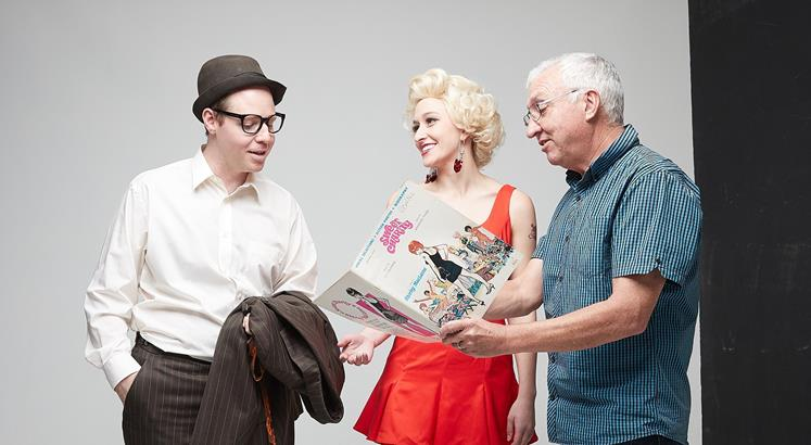 Sweet Charity Director David Sidwell with cast members Scot Hall and Kira Josephson