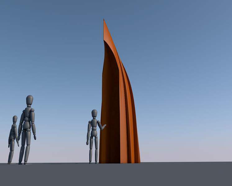 The design for the Matariki Interactive Waka Sculpture