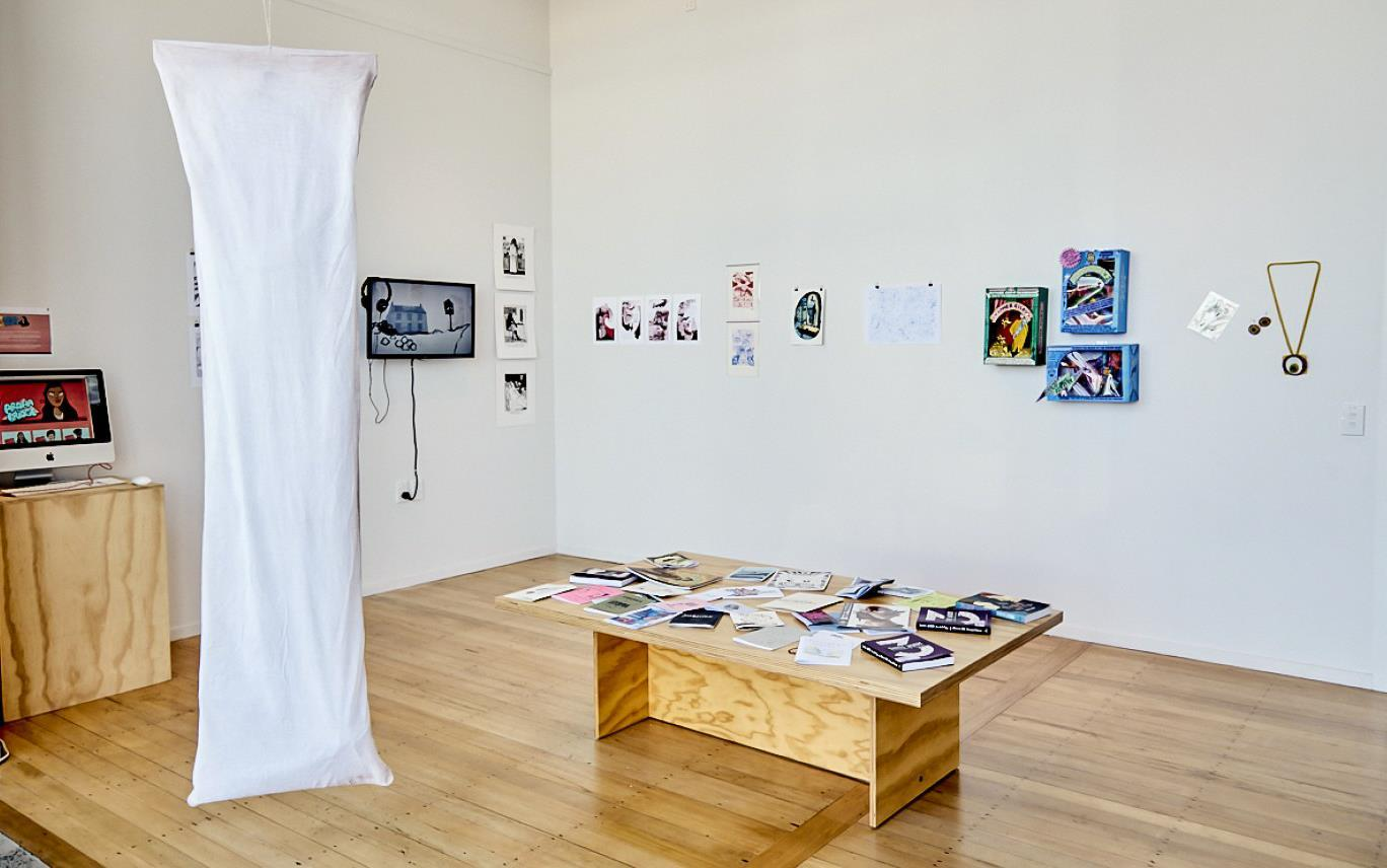 Ramp Gallery with exhibition set up