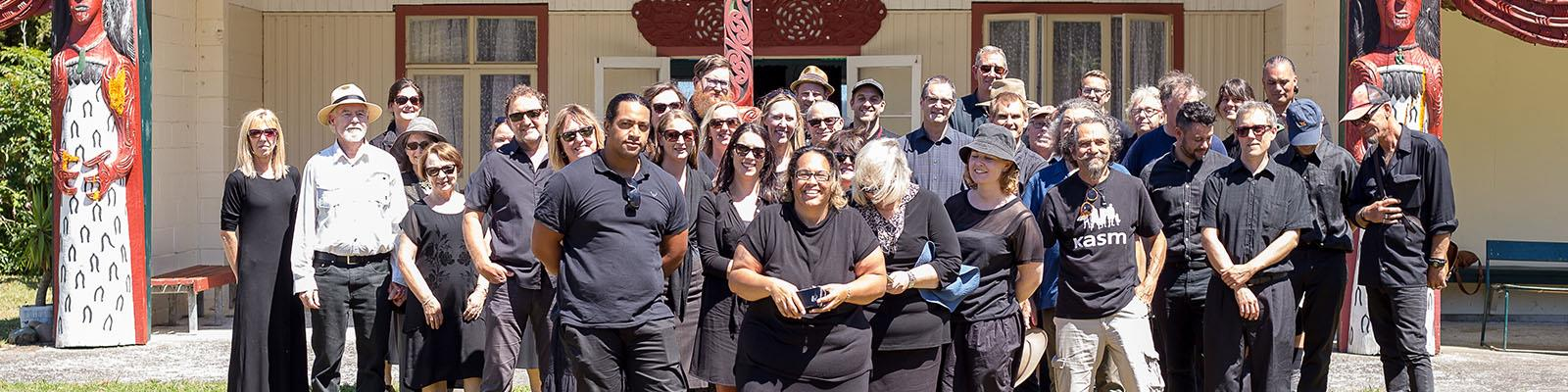 Media arts team at noho marae