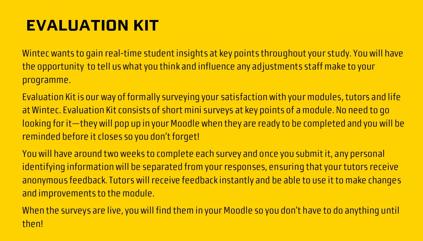 evluation kit for student voice