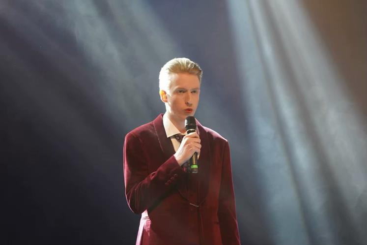 Cody hosting the opening ceremony in China