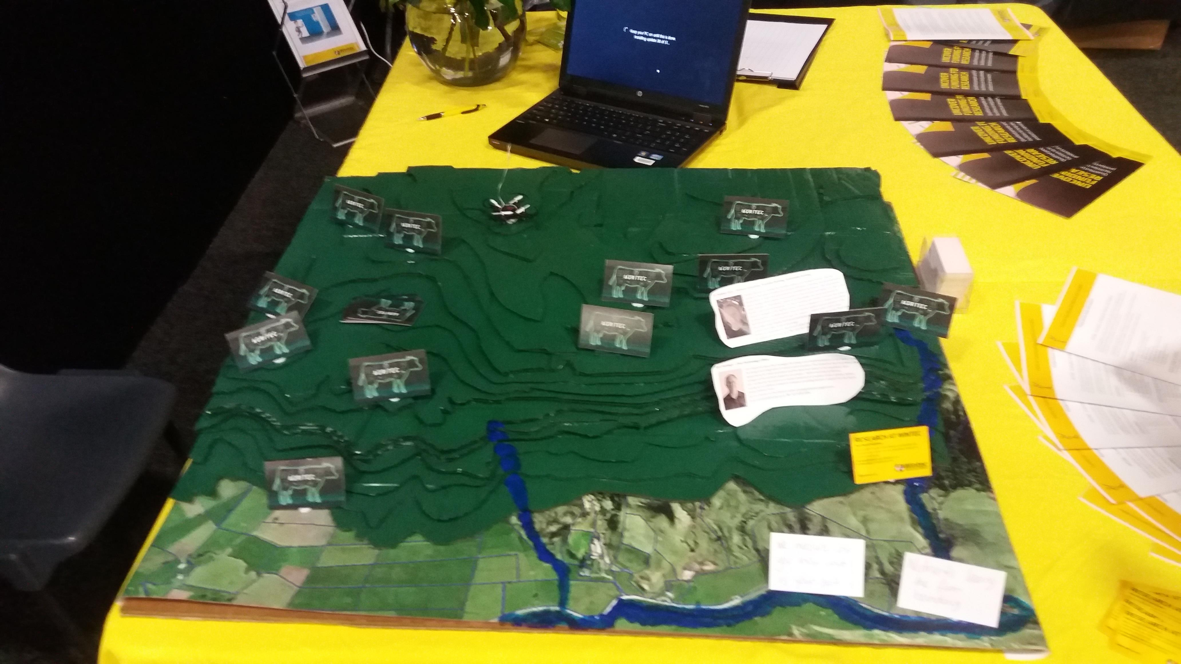 Transdisciplinary research display at Fieldays