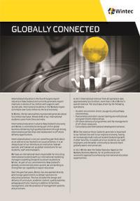 Globally connected profile document cover