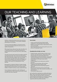 Our teaching and learning profile cover