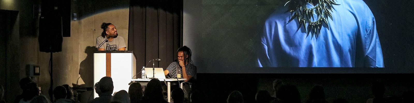 Jermaine Pati presenting at Ramp Festival