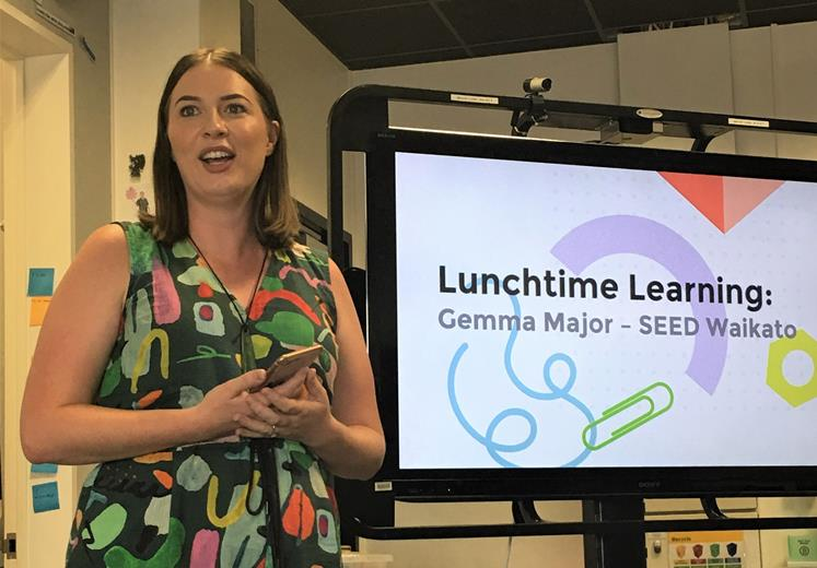 Lunchtime learning is a free event at Design Factory NZ where experts inspire visitors and students