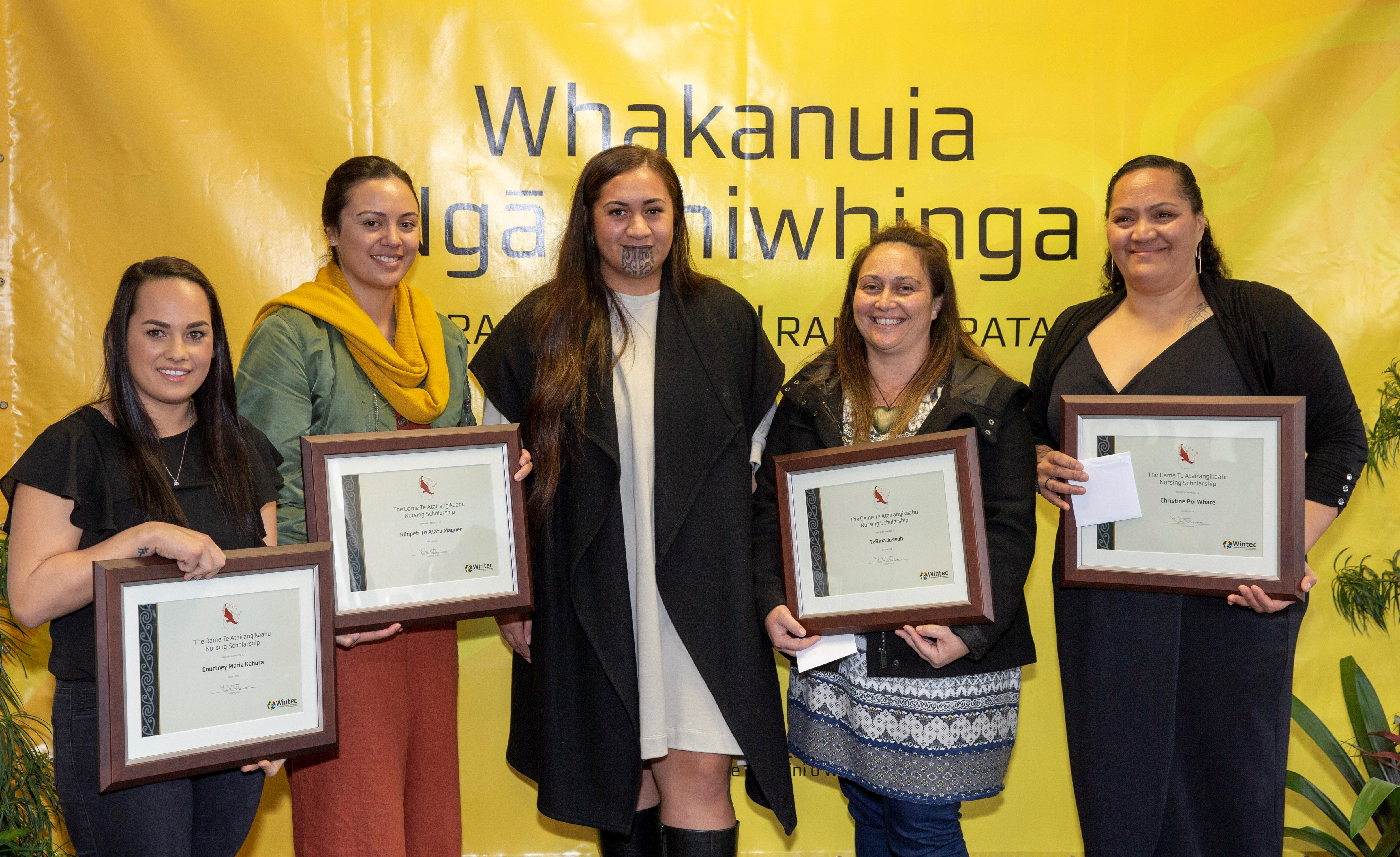 Four Wintec nursing and midwifery students have been awarded Dame Te Ātairangikaahu Nursing Scholarships