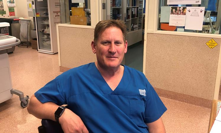 Barry Somerset traded his Navy uniform for hospital scrubs