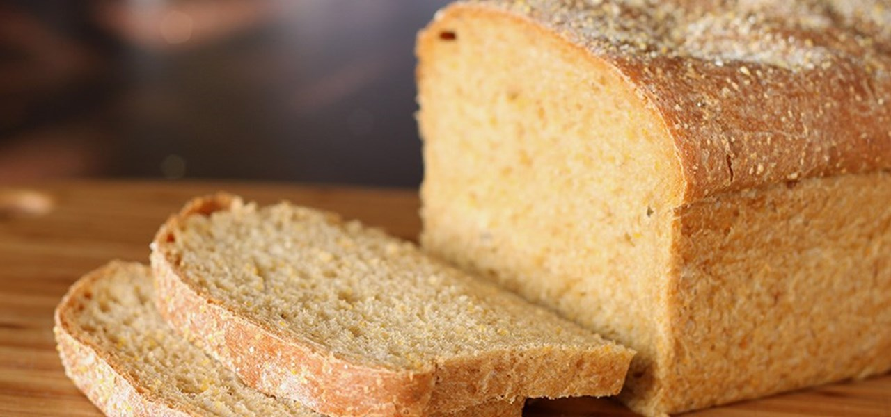 Close up of sliced bread