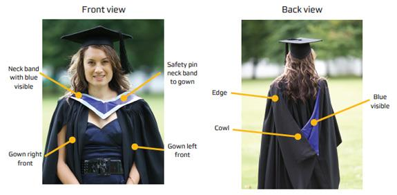 what to wear with blue graduation gown