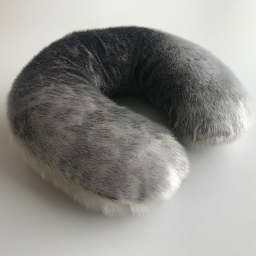Seal Skin Neck Pillow by Mark Igloliorte