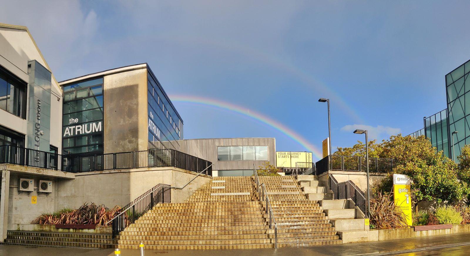 Two rainbows over Wintec - Photo Prasant Panchal