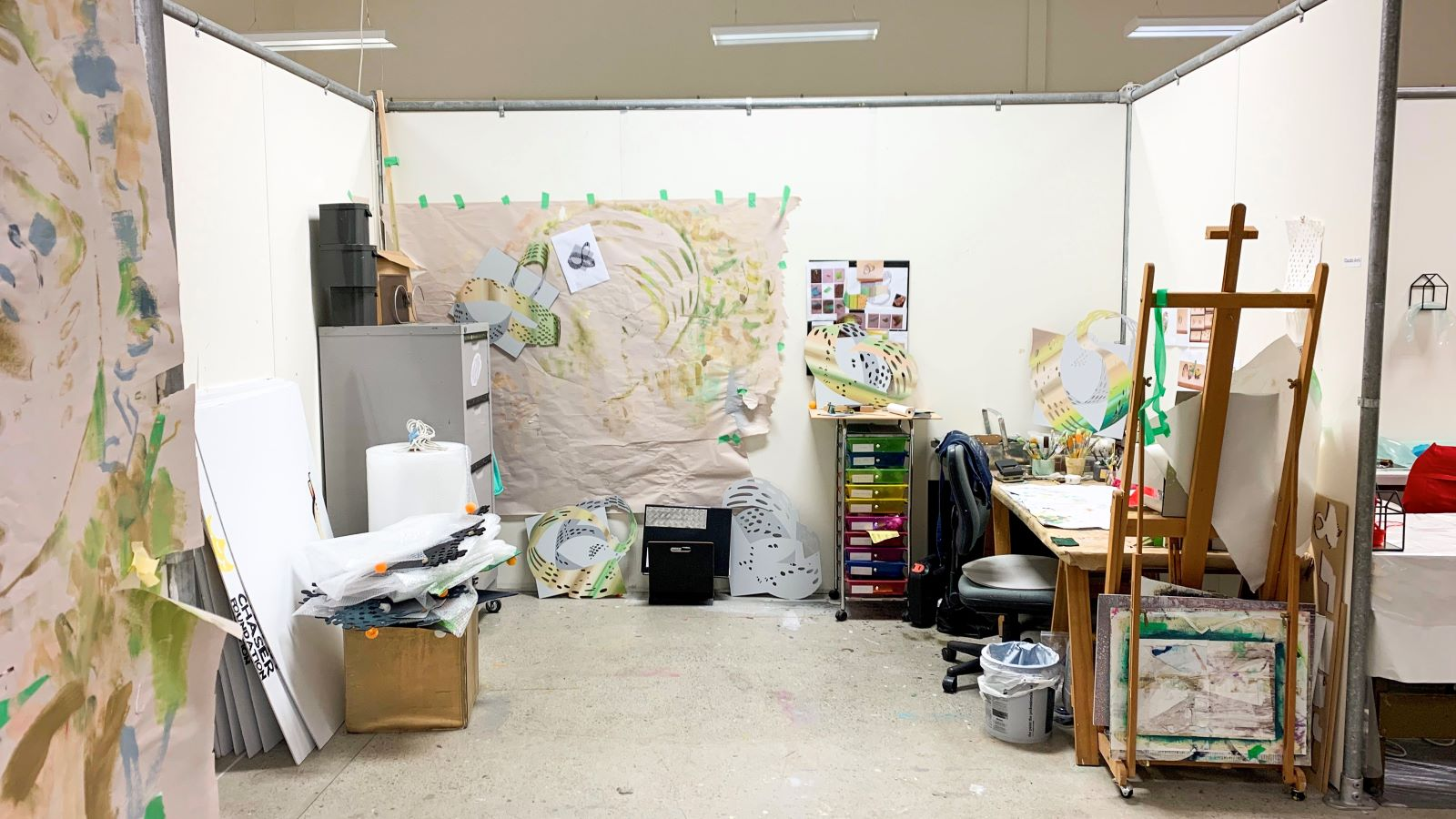 Claudia Avril has her own studio space at Wintec School of Media Arts
