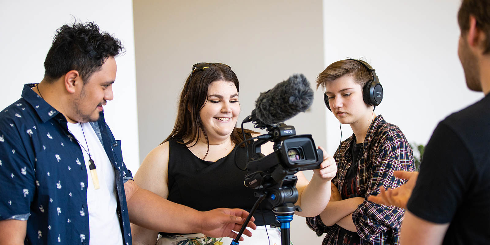Comms students help out on photoshoot_Stephen Barker