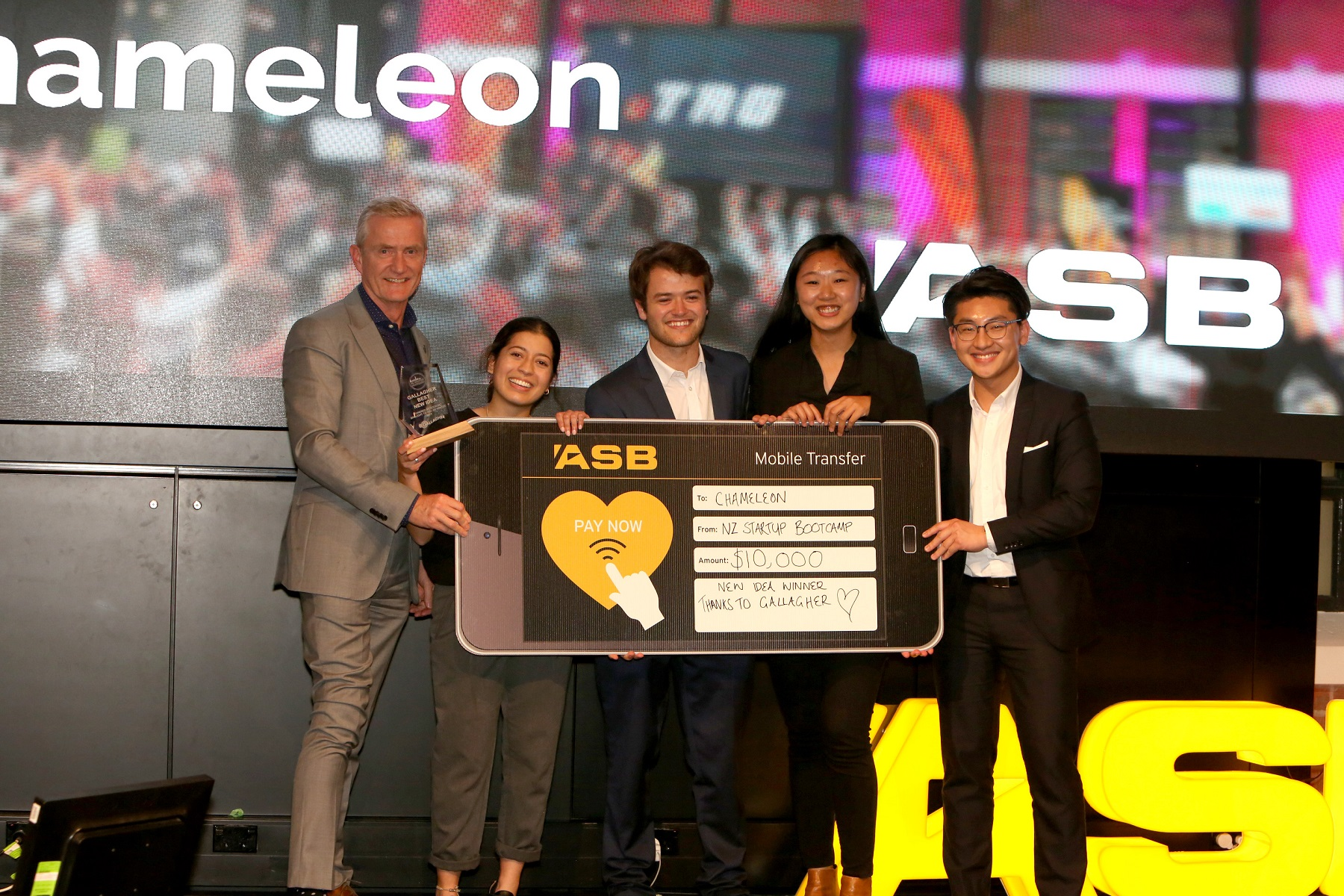 Crisis Management Chameleon won Best New Idea at the NZ Startup Bootcamp