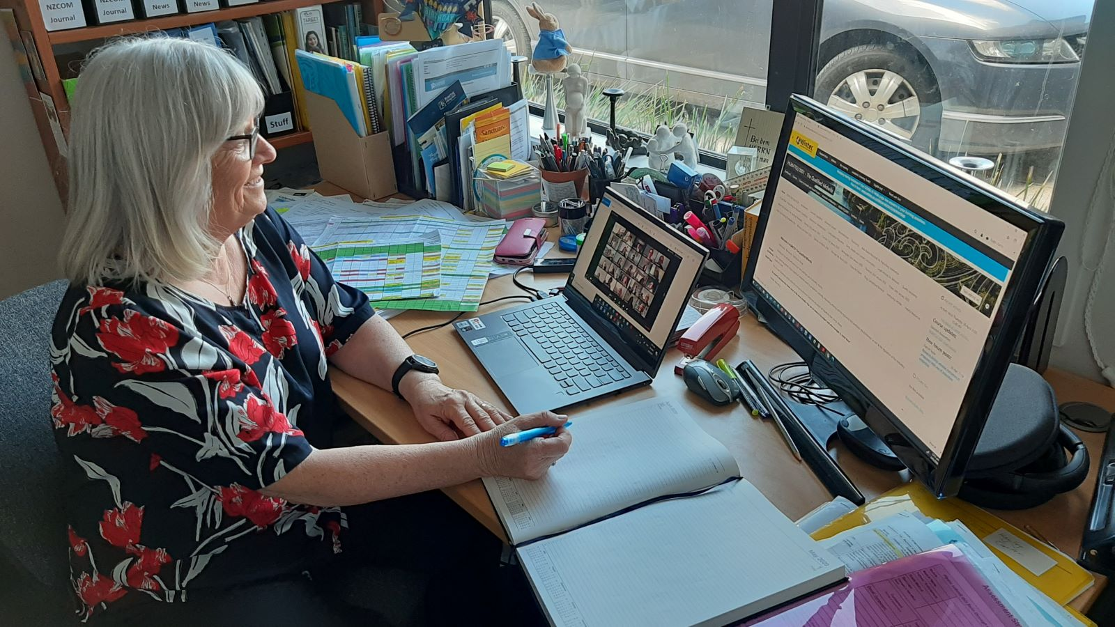 Dr Ruth Martis working from home during COVID-19 Alert Level 3 in New Zealand
