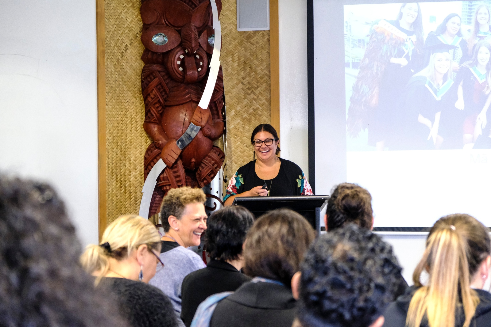 Kate Wynyard from Wintec discusses human design thinking, research and learner success. Photo_ Frances Kroondijk.