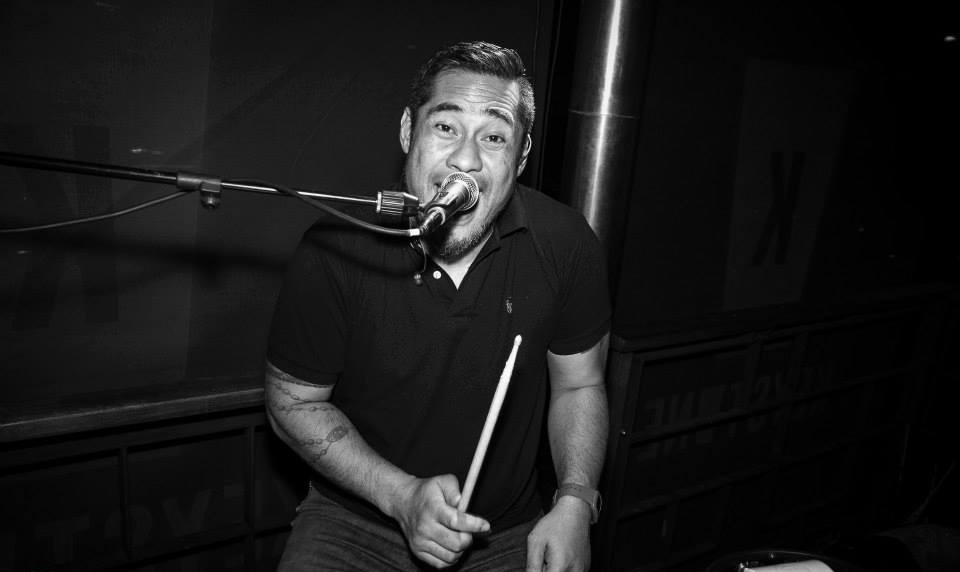 Roy Chou-Lee plays the drums at Keystone bar.