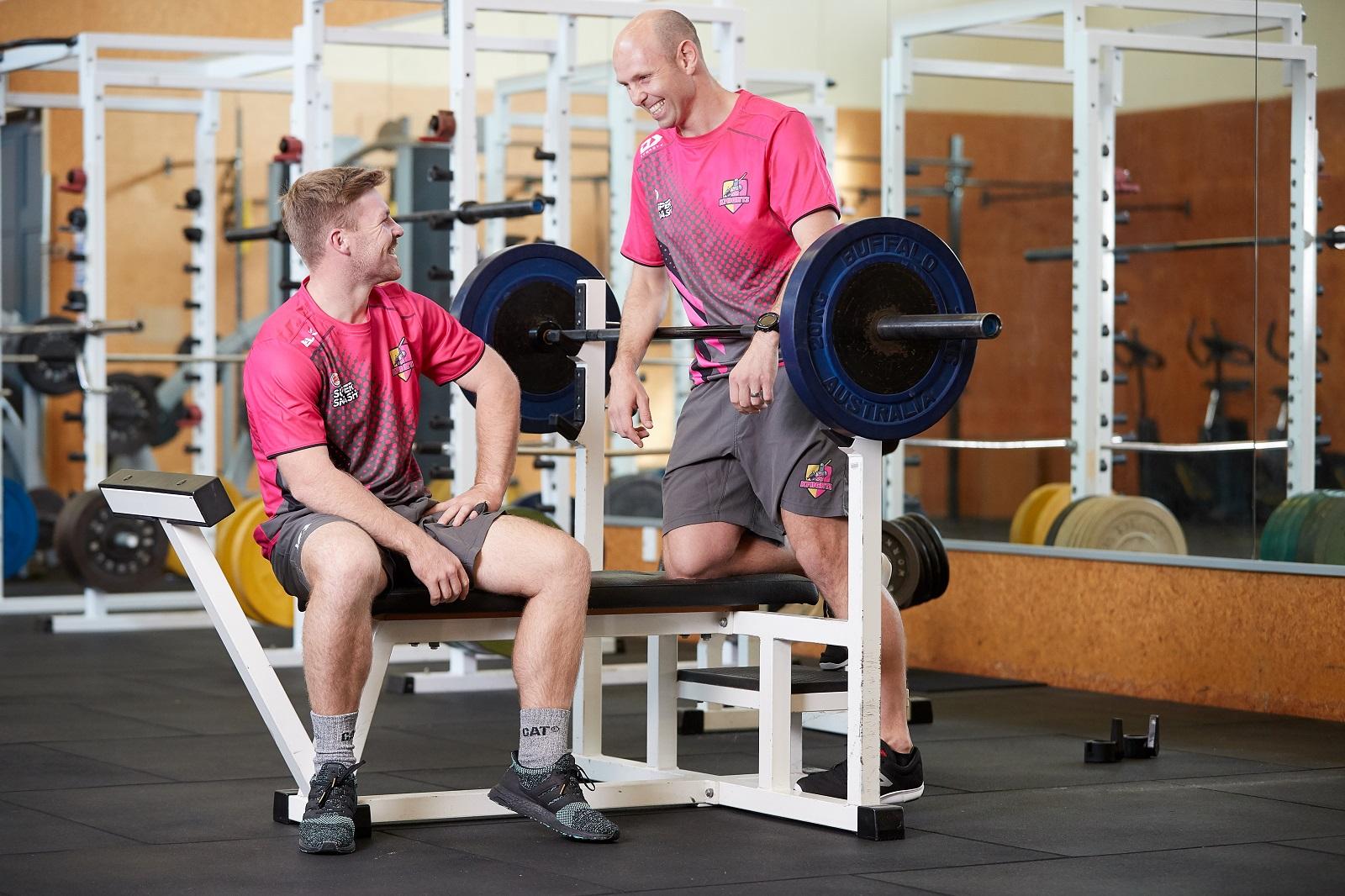 Scott Wrenn and Tim Seifert at Wintec's Gym