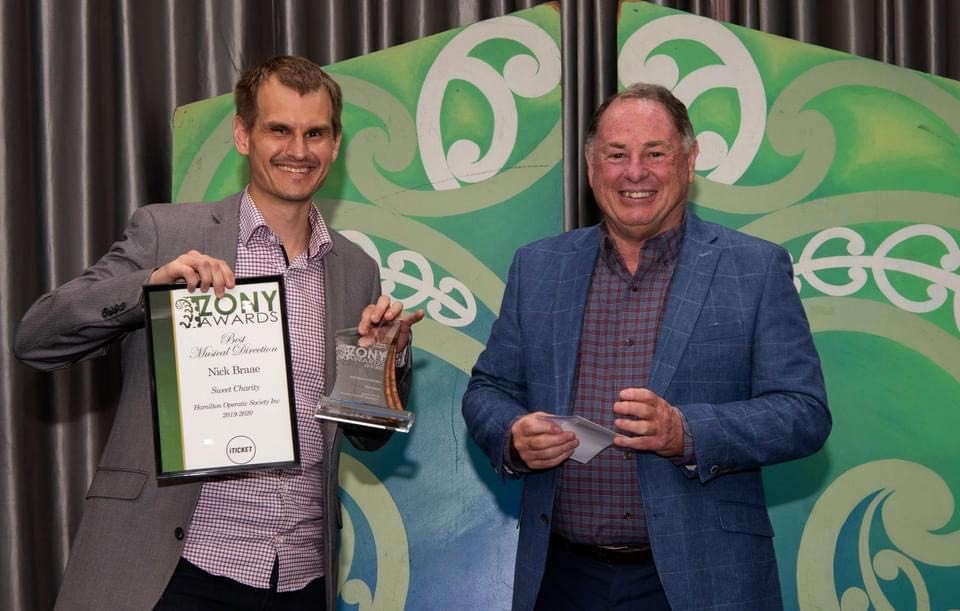 Wintec tutor Nick Brae wins Best Musical Director at the Zonys
